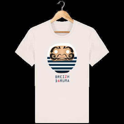 T Shirt Breton - Breizh Daruma Marinière - Vintage White - Face
