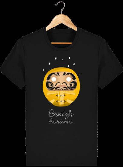 T Shirt Breton – Breizh Daruma Ciré Jaune - Black - Face