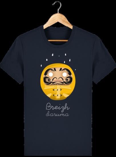 T Shirt Breton – Breizh Daruma Ciré Jaune - French Navy - Face