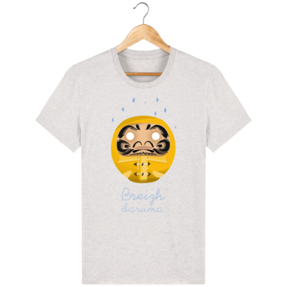 T Shirt Breton – Breizh Daruma Ciré Jaune - Cream Heather Grey - Face