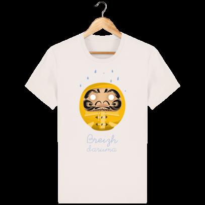 T Shirt Breton – Breizh Daruma Ciré Jaune - Vintage White - Face