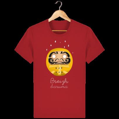 T Shirt Breton – Breizh Daruma Ciré Jaune - Red - Face