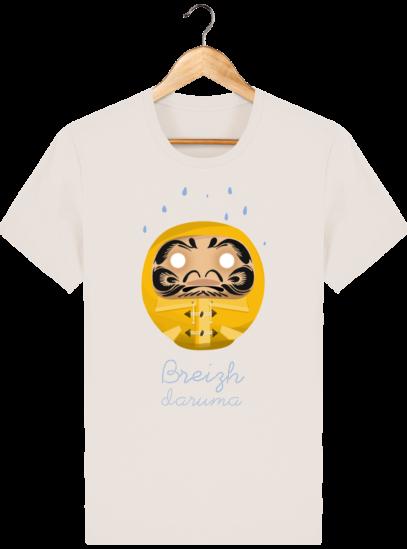 T Shirt Breton – Breizh Daruma Ciré Jaune - Off White - Face
