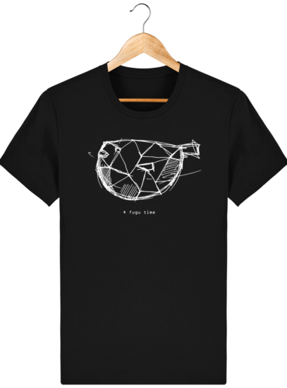 T Shirt Japon - Fugu time - Black - Face