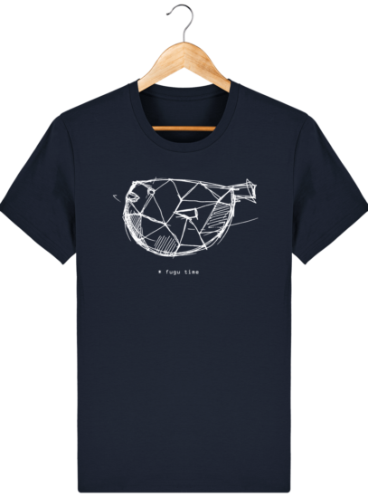 T Shirt Japon - Fugu time - French Navy - Face