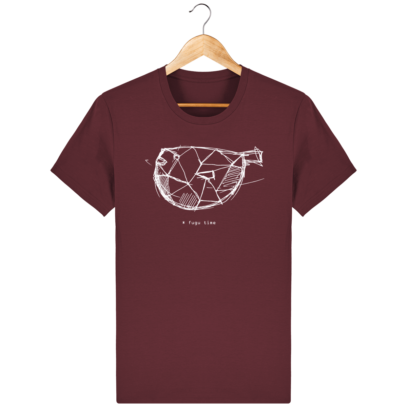 T Shirt Japon - Fugu time - Burgundy - Face