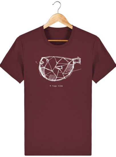 T Shirt Japon - Fugu time - Burgundy - Face