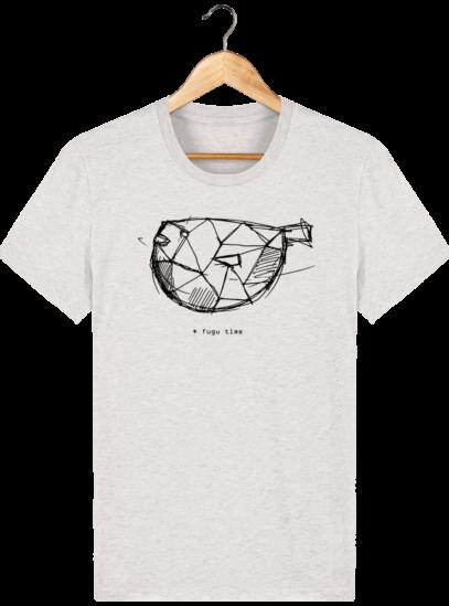 T Shirt Japon - Fugu time - Cream Heather Grey - Face