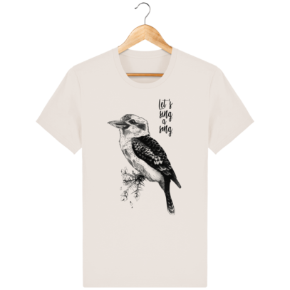 T Shirt Australie - Kookaburra - Let's sing a song - Off White - Face