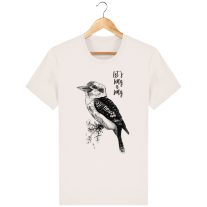 T Shirt Australie - Kookaburra - Let's sing a song - Vintage White - Face