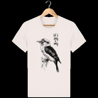 T Shirt Australie - Kookaburra - Let's sing a song - Vintage White - Face