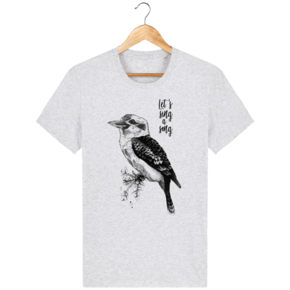 T Shirt Australie - Kookaburra - Let's sing a song - Heather Ash - Face