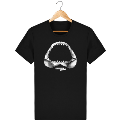 T Shirt Australie Requin / Shark - Australian Kiss - Black - Face