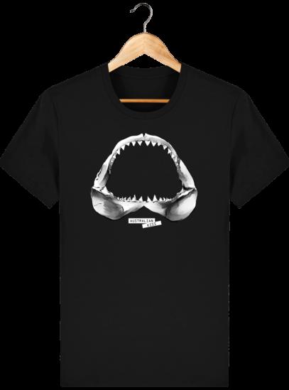 T Shirt Australie Requin / Shark - Australian Kiss - Black - Face