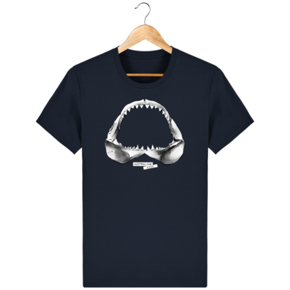 T Shirt Australie Requin / Shark - Australian Kiss - French Navy - Face