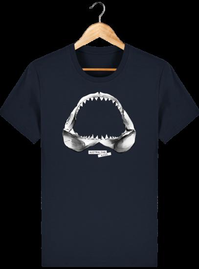 T Shirt Australie Requin / Shark - Australian Kiss - French Navy - Face