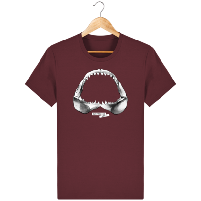 T Shirt Australie Requin / Shark - Australian Kiss - Burgundy - Face