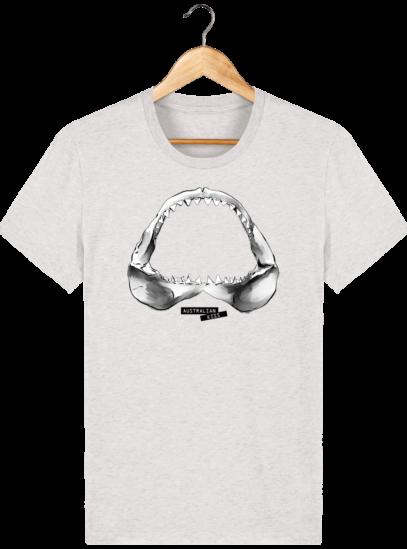 T Shirt Australie Requin / Shark - Australian Kiss - Cream Heather Grey - Face
