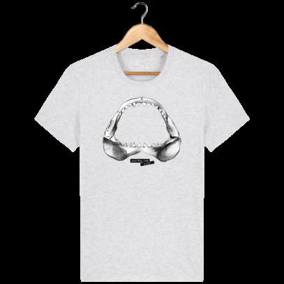 T Shirt Australie Requin / Shark - Australian Kiss - Heather Ash - Face