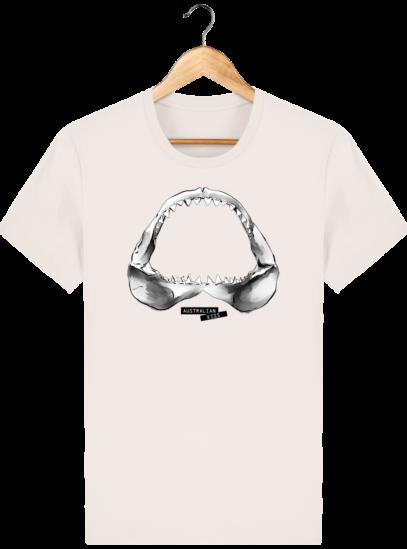 T Shirt Australie Requin / Shark - Australian Kiss - Vintage White - Face