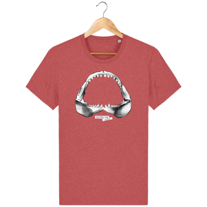 T Shirt Australie Requin / Shark - Australian Kiss - Mid Heather Red - Face