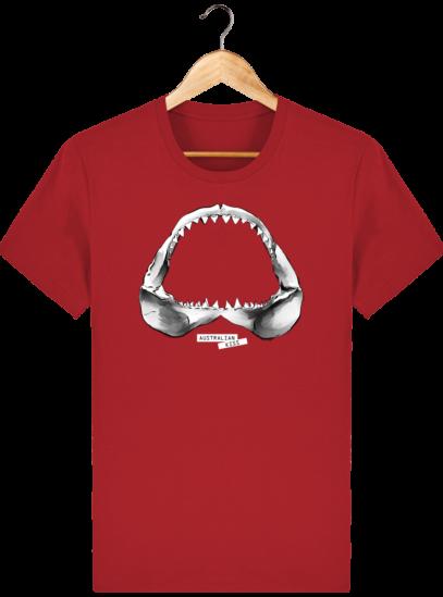 T Shirt Australie Requin / Shark - Australian Kiss - Red - Face