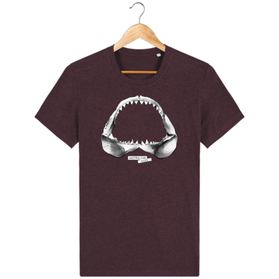 T Shirt Australie Requin / Shark - Australian Kiss - Heather Grape Red - Face