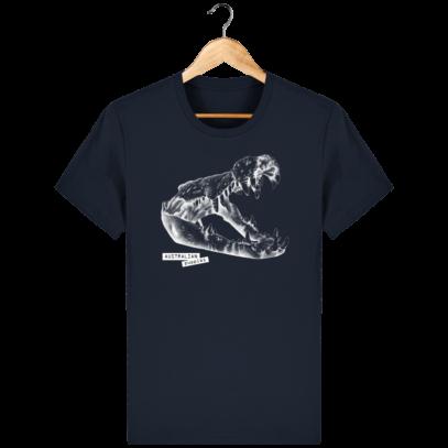 T Shirt Australie Crocodile - Australian Puppies - French Navy - Face