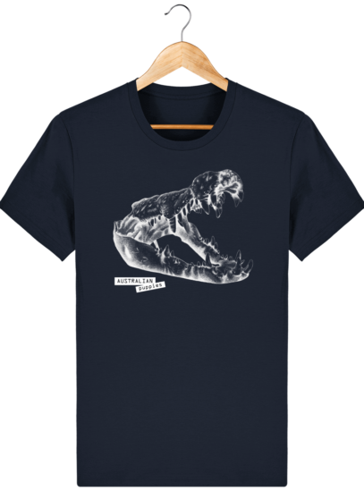 T Shirt Australie Crocodile - Australian Puppies - French Navy - Face