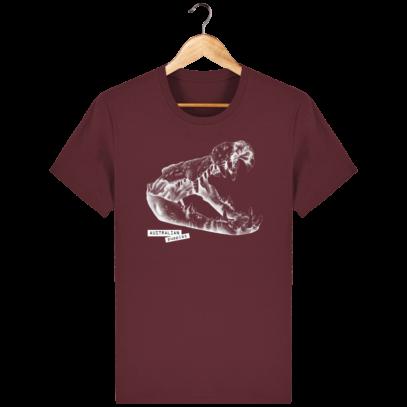 T Shirt Australie Crocodile - Australian Puppies - Burgundy - Face