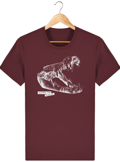 T Shirt Australie Crocodile - Australian Puppies - Burgundy - Face
