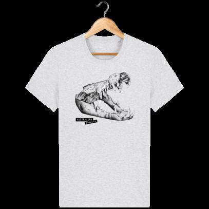 T Shirt Australie Crocodile - Australian Puppies - Heather Ash - Face