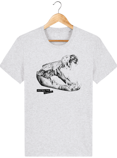 T Shirt Australie Crocodile - Australian Puppies - Heather Ash - Face