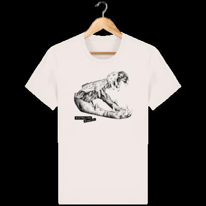 T Shirt Australie Crocodile - Australian Puppies - Vintage White - Face