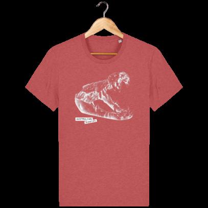 T Shirt Australie Crocodile - Australian Puppies - Mid Heather Red - Face