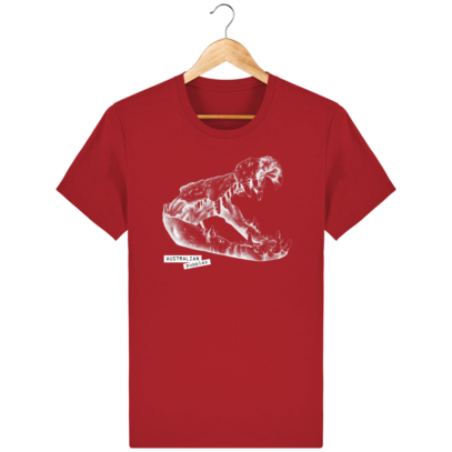 T Shirt Australie Crocodile - Australian Puppies - Red - Face