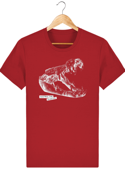 T Shirt Australie Crocodile - Australian Puppies - Red - Face