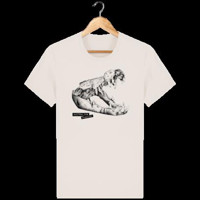 T Shirt Australie Crocodile - Australian Puppies - Off White - Face