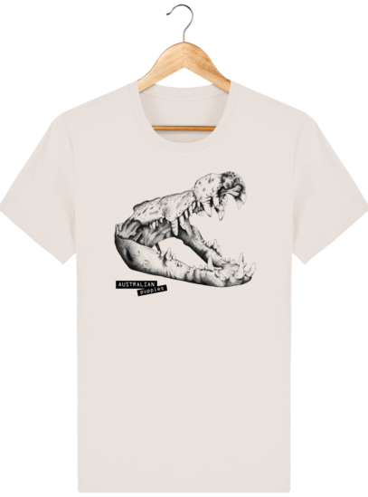 T Shirt Australie Crocodile - Australian Puppies - Off White - Face