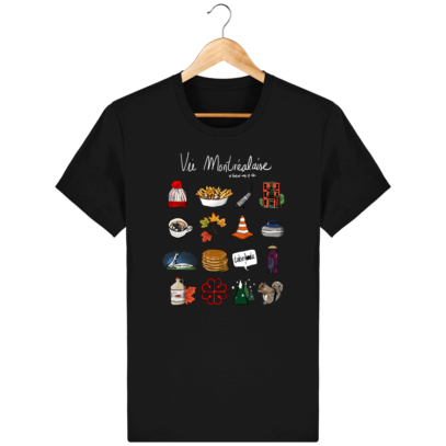 T Shirt Canada - Vie Montréalaise - Montréal way of life - Black - Face