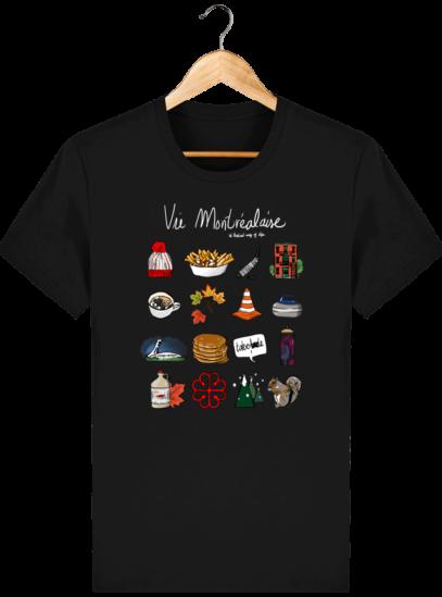 T Shirt Canada - Vie Montréalaise - Montréal way of life - Black - Face