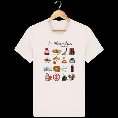 T Shirt Canada - Vie Montréalaise - Montréal way of life - Vintage White - Face