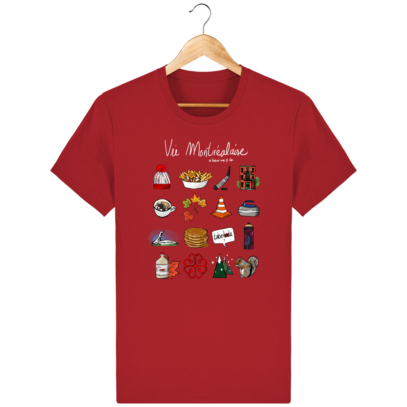 T Shirt Canada - Vie Montréalaise - Montréal way of life - Red - Face