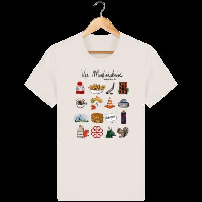 T Shirt Canada - Vie Montréalaise - Montréal way of life - Off White - Face