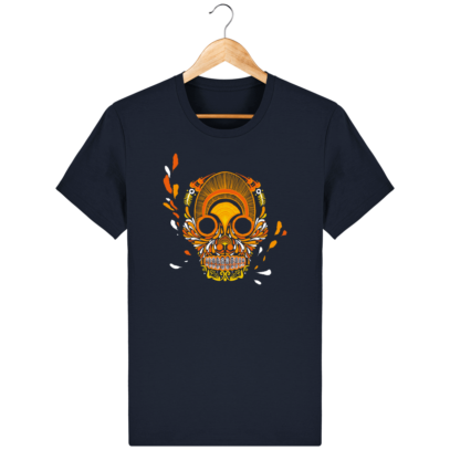 T Shirt Mexique - Breizh Skull - La Calavera Bretaña - French Navy - Face