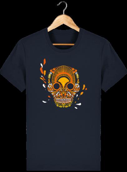 T Shirt Mexique - Breizh Skull - La Calavera Bretaña - French Navy - Face