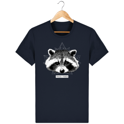 T Shirt Canada - Raton Laveur/Racoon - Trash Panda - French Navy - Face