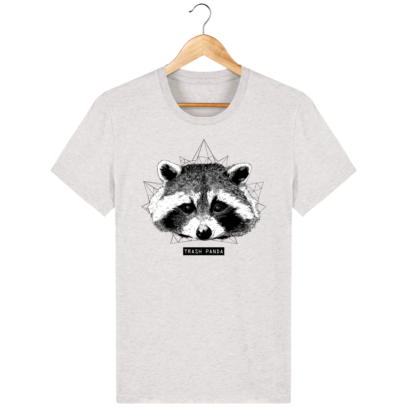 T Shirt Canada - Raton Laveur/Racoon - Trash Panda - Cream Heather Grey - Face
