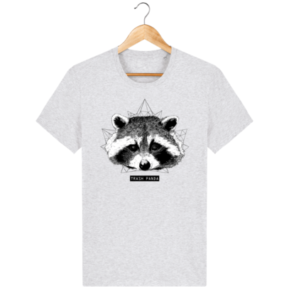 T Shirt Canada - Raton Laveur/Racoon - Trash Panda - Heather Ash - Face