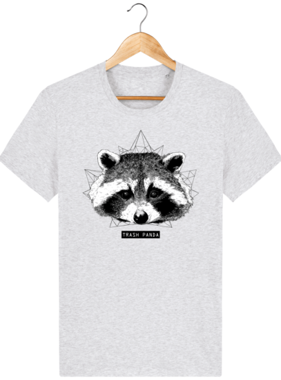 T Shirt Canada - Raton Laveur/Racoon - Trash Panda - Heather Ash - Face